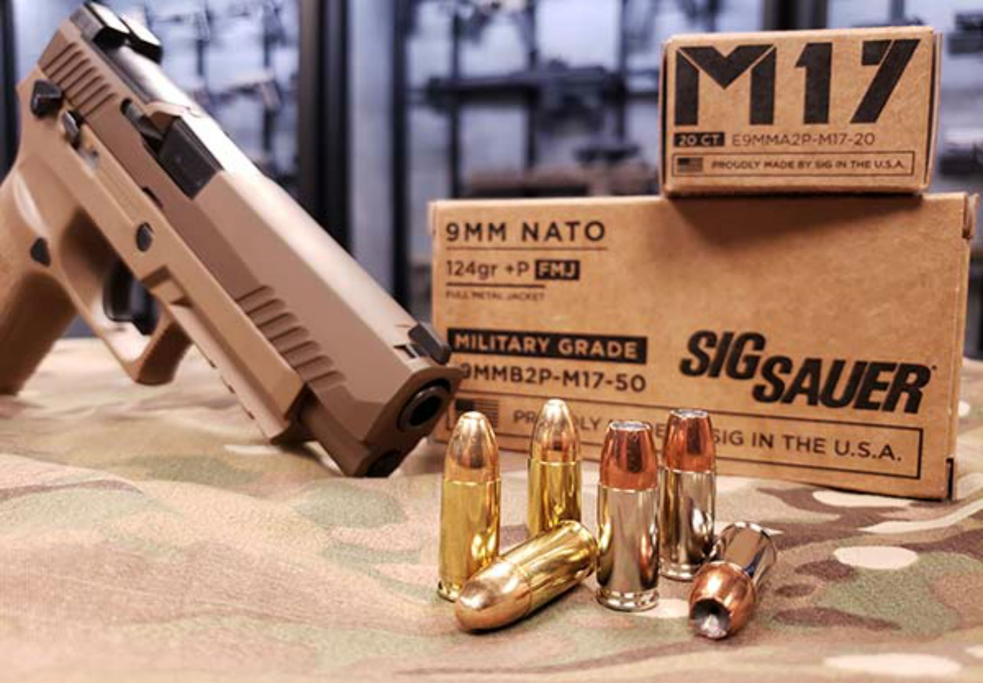 SIG Sauer introduces new M17 9mm +P ammunition