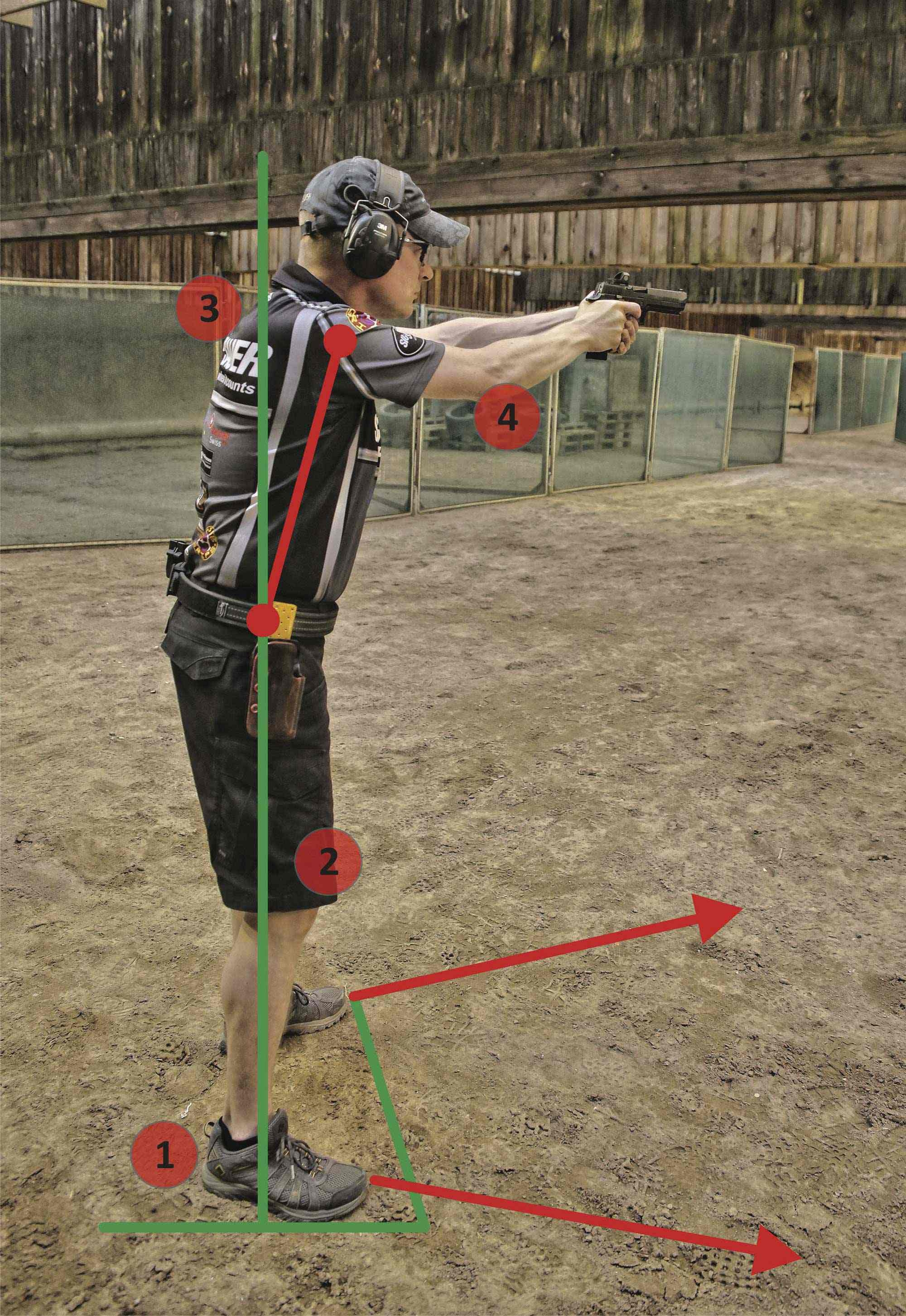 Four points must be taken into account for the correct posture when shooting.