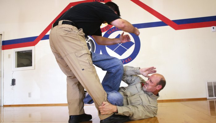 culture: Self-defense and unarmed defense Part 7 - The defense against kicks on the ground