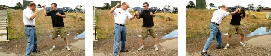 Image sequence of self-defense with improvised weapons.