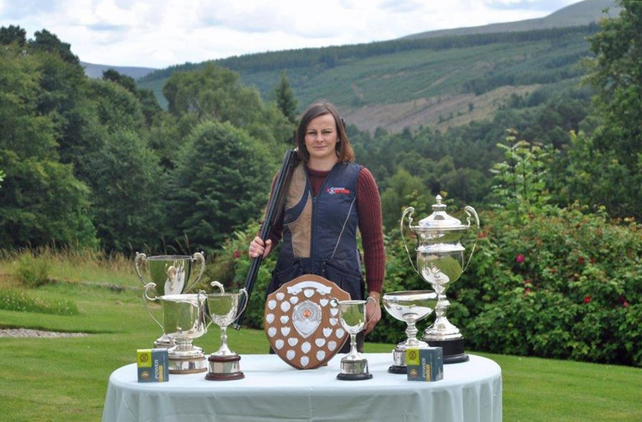Carrie Smith with her trophies