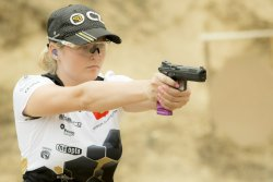 The Russian Maria Gushchina of the CZ Shooting Team