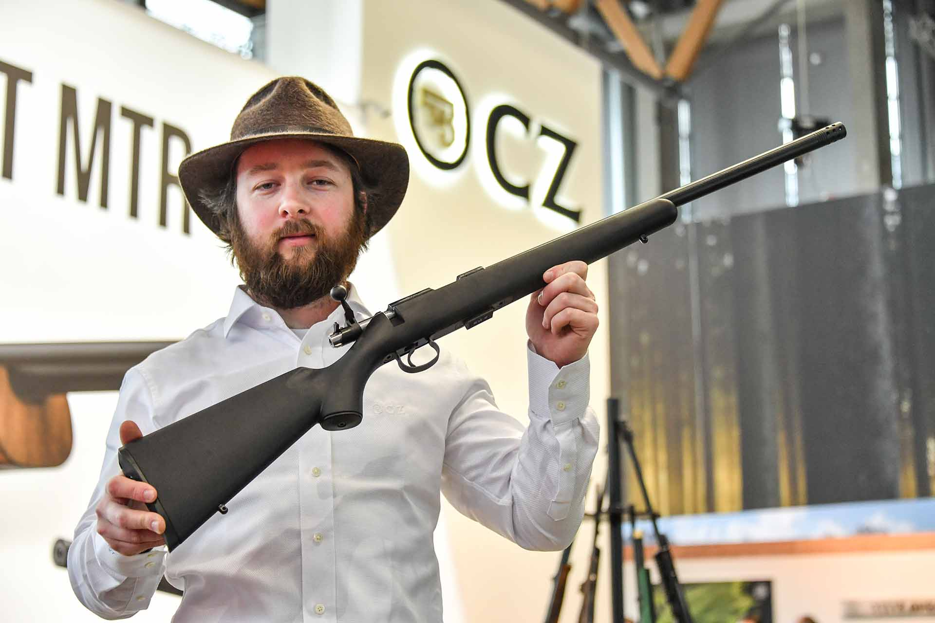 Bolt action rifle CZ 455 Varmint Synthetic with polymer stock with a soft-touch finish in .22 Long Rifle caliber