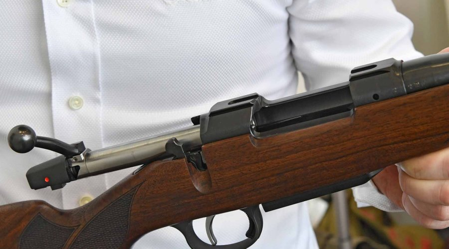 CZ 557 Lux II bolt action rifle suitable for both open sights and riflescopes