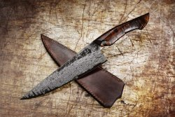 Chef's knife by the master Jelle Hazemberg.