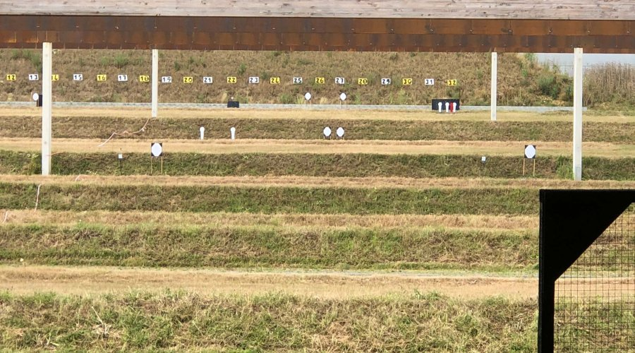 Targets for stage 3 at the French IPSC Rifle Championship 2018