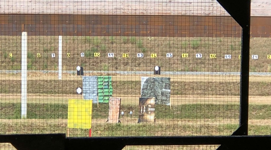 Targets for stage 4 at the French IPSC Rifle Championship 2018