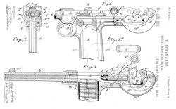 Hugo Borchardt's patent for his recoil-operated pistol