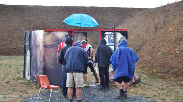 The heavy rain at the IPSC World Championship 2017 hindereed the shooters in the evening of the third match day.
