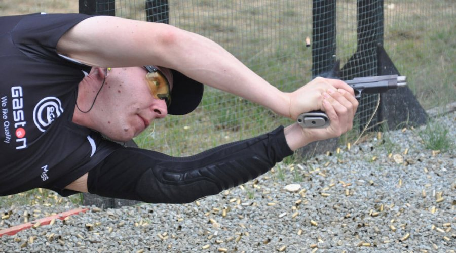 Shooter in action at the IPSC World Championships 2017