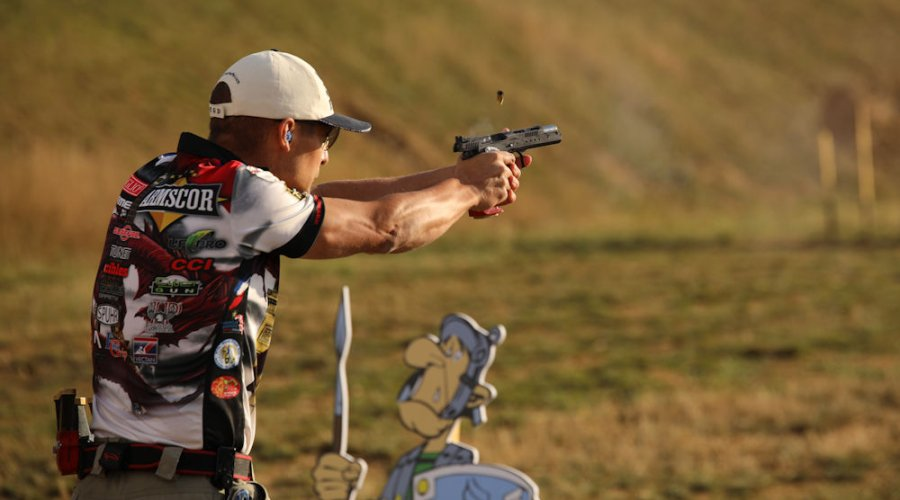 Top shooter Eric Grauffel in Standard Division at the IPSC World Shoot 2017