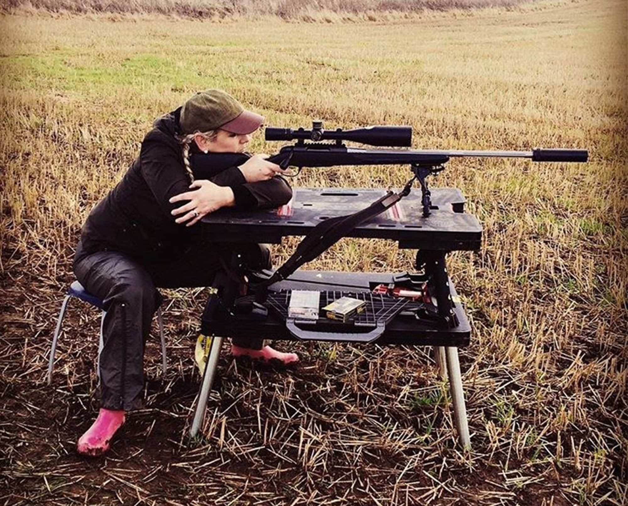 Mhairi-Ann Troup target shooting rifle 243 Mannlicher Pro Varmit