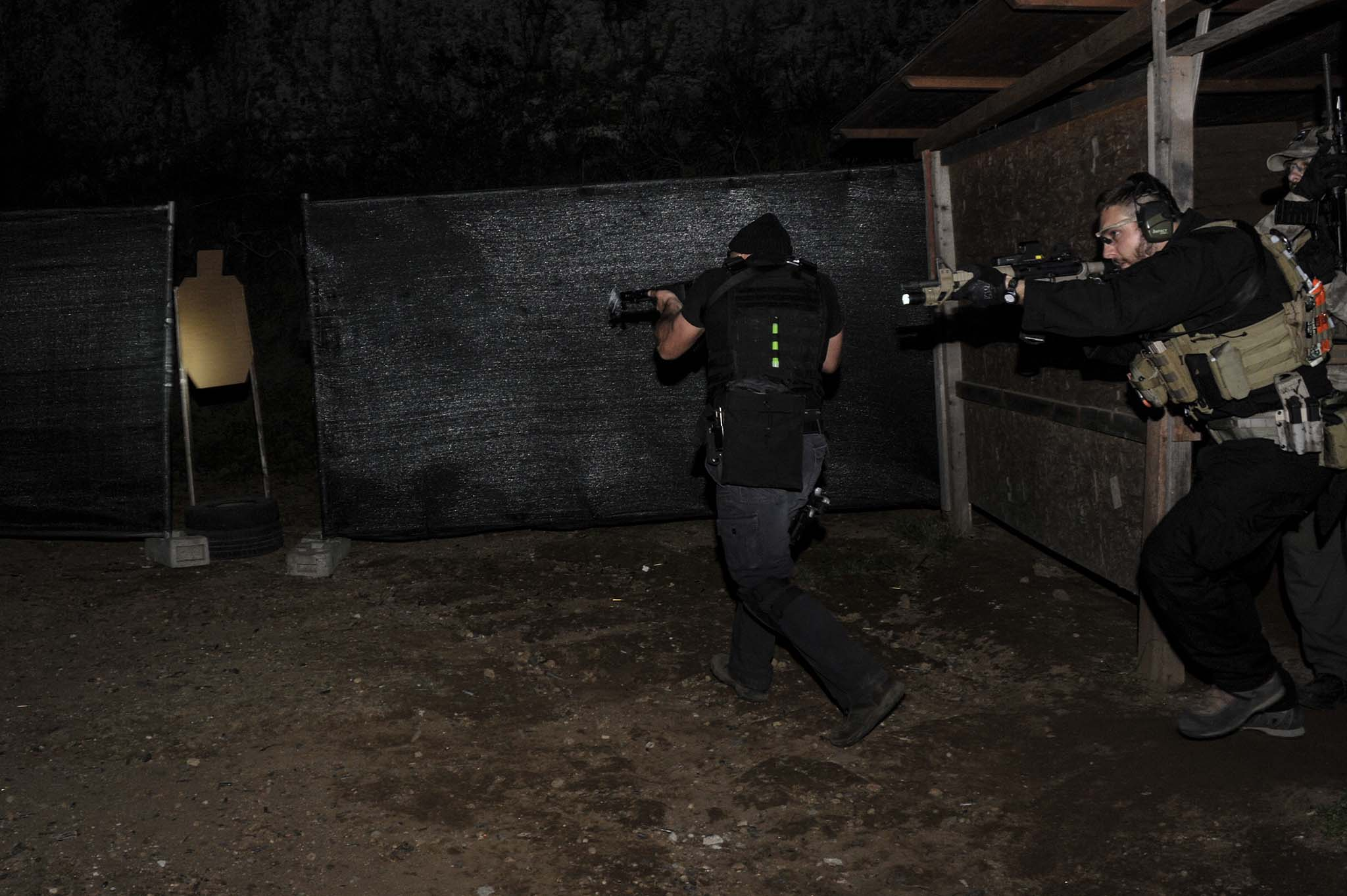 Shooters during night training