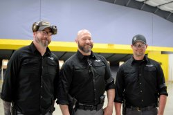 Three instructors of the SIG Sauer Academy: Josh Corbett, Eric Palmer and Dylan Kenneson.