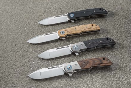 Folding knives designed by Lion Steel.