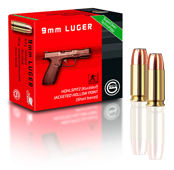 GECO 9 mm Luger Hollow Point ammunition