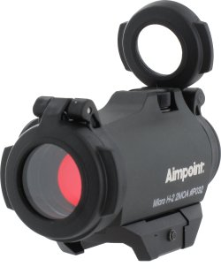 Diamant S.r.l. showcased the Aimpoint Micro H2 red dot sight at the 2016 HIT Show