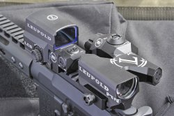 The Leupold D-EVO tactical gunsight was on display at the 2016 HIT Show
