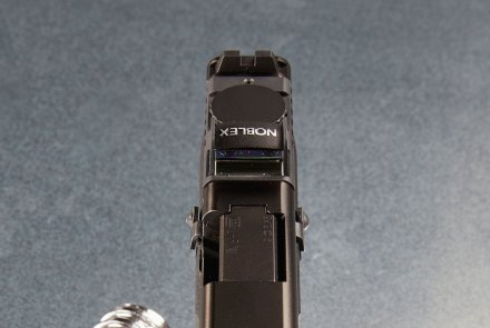 Frontal view of the Noblex Glocksight, mounted on a GLOCK.