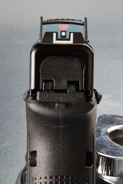 Glocksight mounted on GLOCK pistol, sits directly in the MOS slide