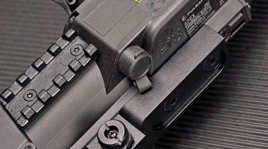 Pulsar riflescope battery compartment