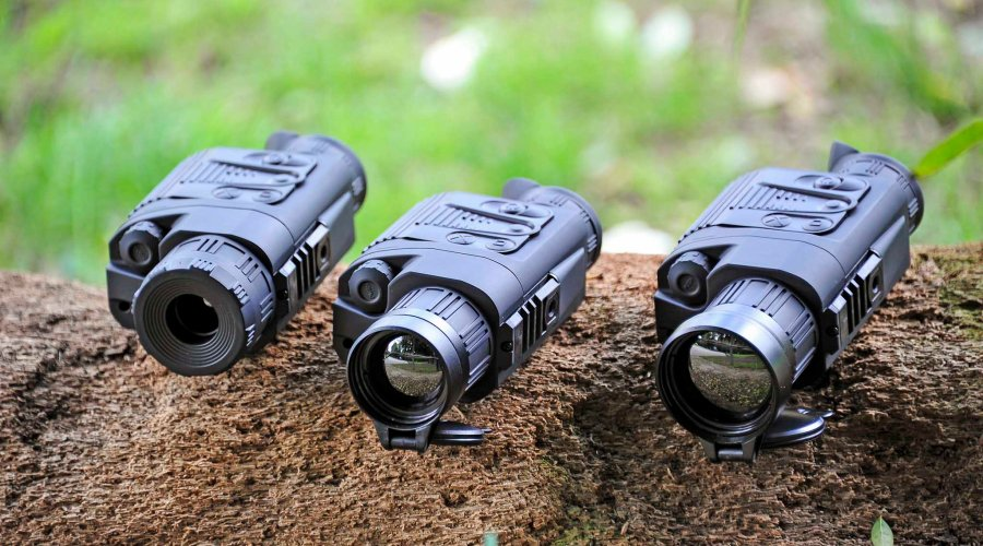 The three Pulsar Quantum XQ thermal monoculars