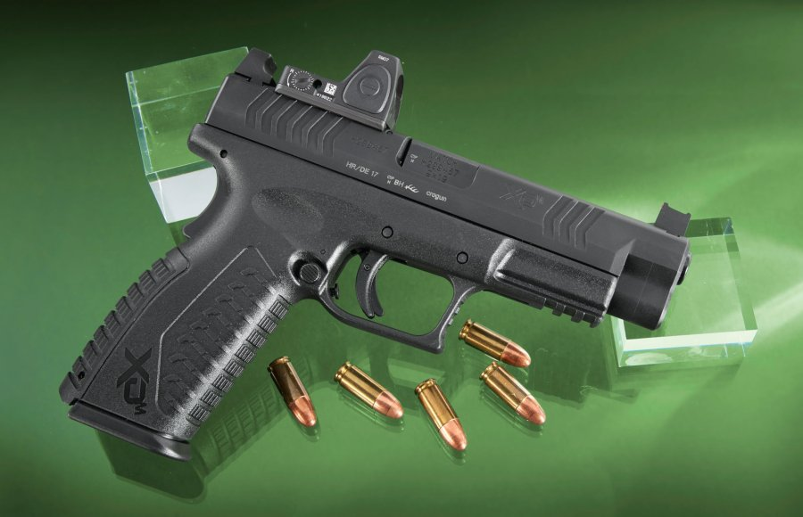 HS Produkt XDM-9 4.5 OSP, optics-ready 9mm polymer-framed pistol right side view
