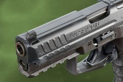 Muzzle of the Heckler & Koch SFP9 OR in 9 mm