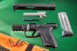 Ruger American Pistol Compact in 9mm disassembled