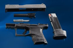 Walther PPQ (SC) subcompact 9mm pistol disassembled