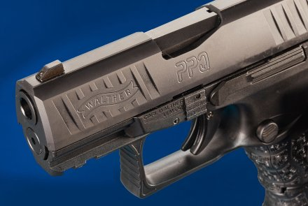 The Picatinny rail of the Walther PPQ (SC) subcompact 9mm pistol
