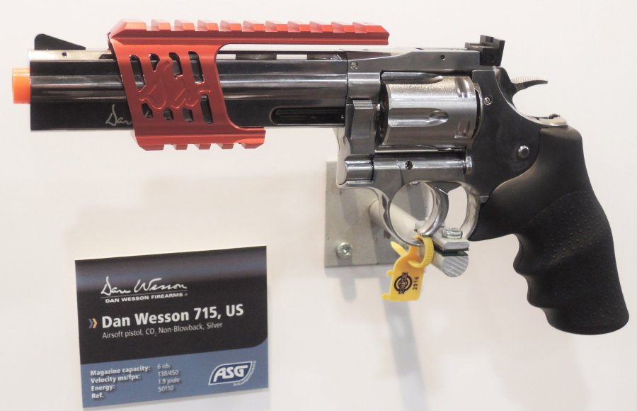 ASG - ActionSportGames A/S introduced the Dan Wesson DW-715 6mm BB CO2-operated airsoft replica revolver at the 2016 SHOT Show