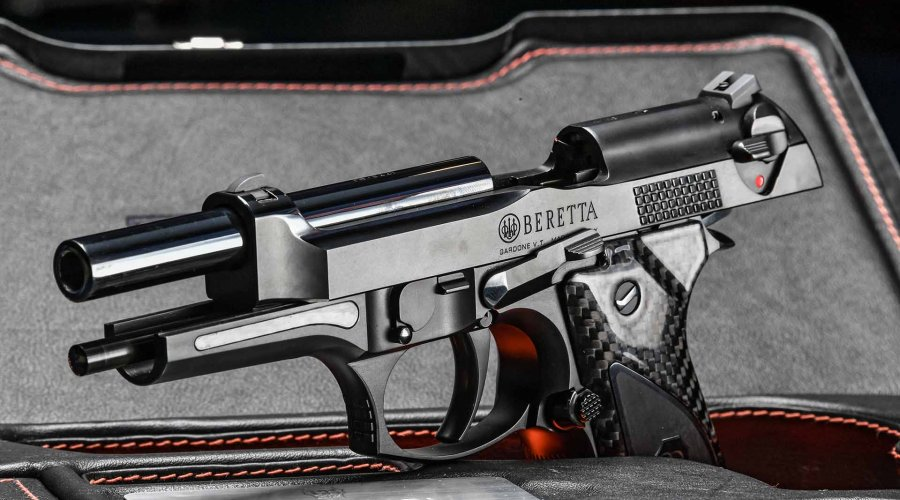 Beretta Fusion Black with slide locked back