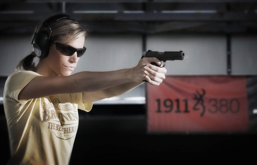 The Browning Arms Company offers the .380 ACP caliber Browning Black Label 1911-380 semi-automatic pistol