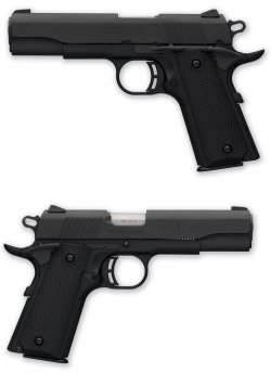 The Browning Arms Company offers the .380 ACP caliber Browning Black Label 1911-380 semiautomatic pistol