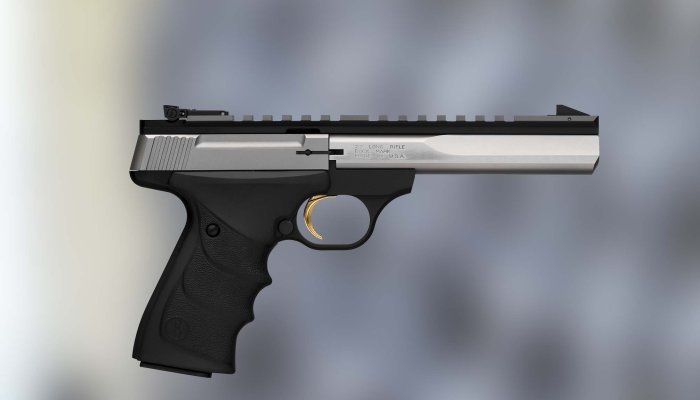 browning: Browning Buck Mark Contour Stainless URX in .22 LR, a classic rimfire pistol revisited