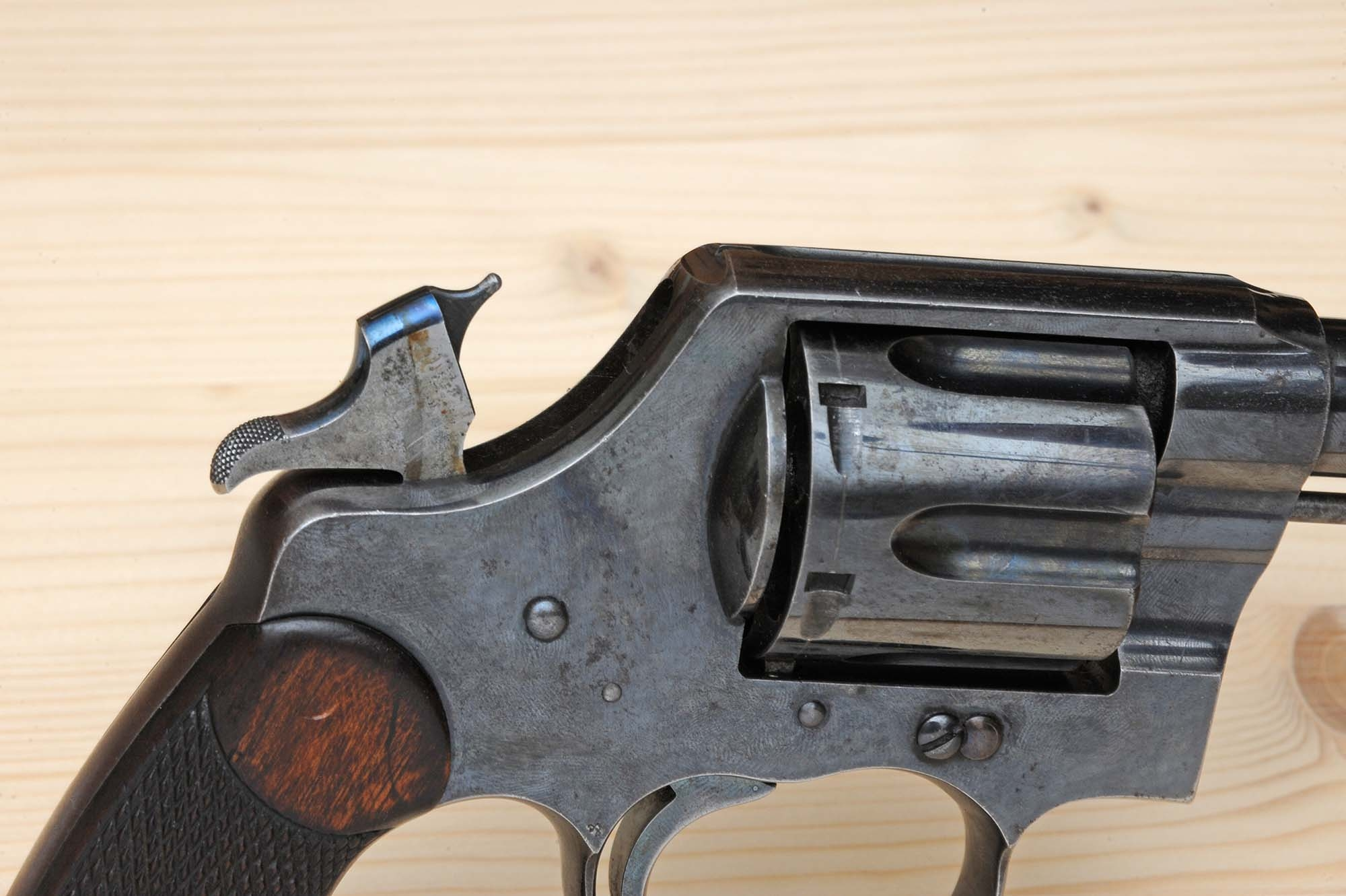 Trigger of the  Colt New Service revolver
