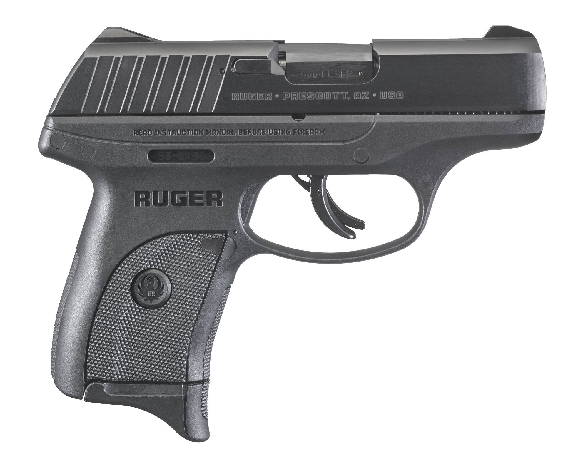 Right view of the Ruger EC9s 9mm pistol