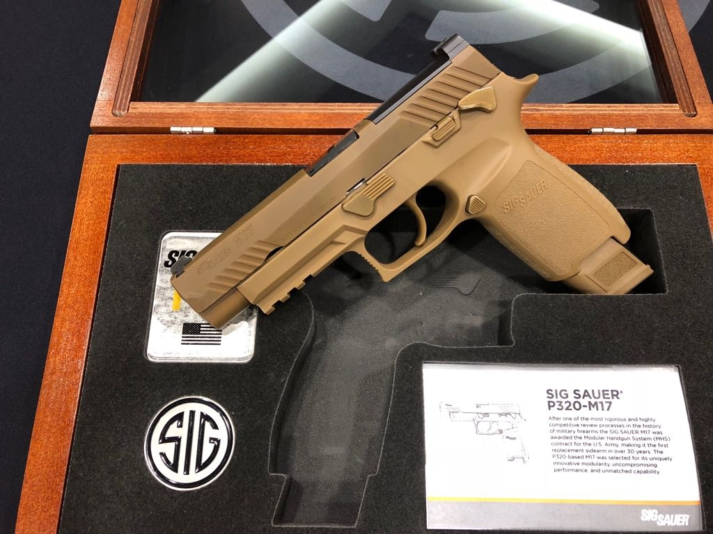 The SIG Sauer M17-Commemorative with its case