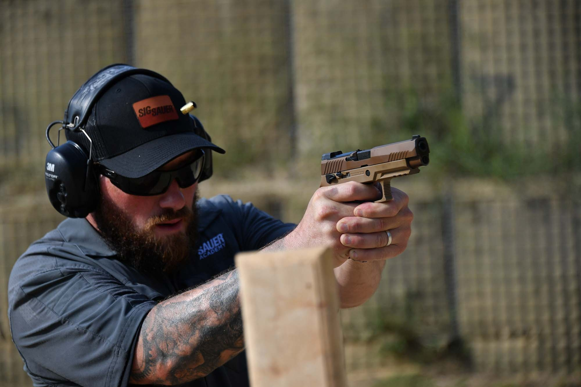 Shooting the new P320-M17 at the SIG Sauer Academy