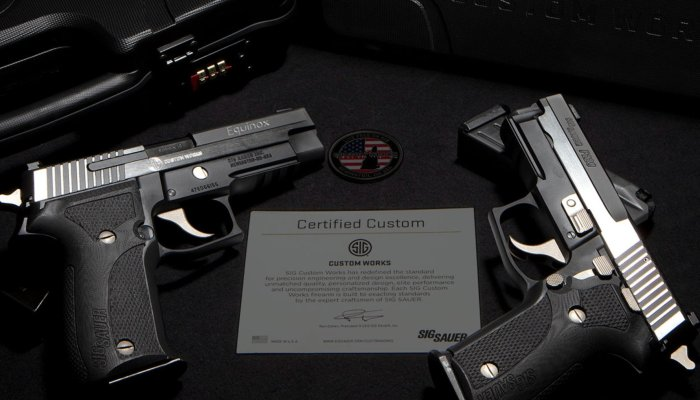 "sig-sauer: From SIG Sauer, the P226 Equinox and P229 Equinox – Two ""classics"" in a new Custom Works series"
