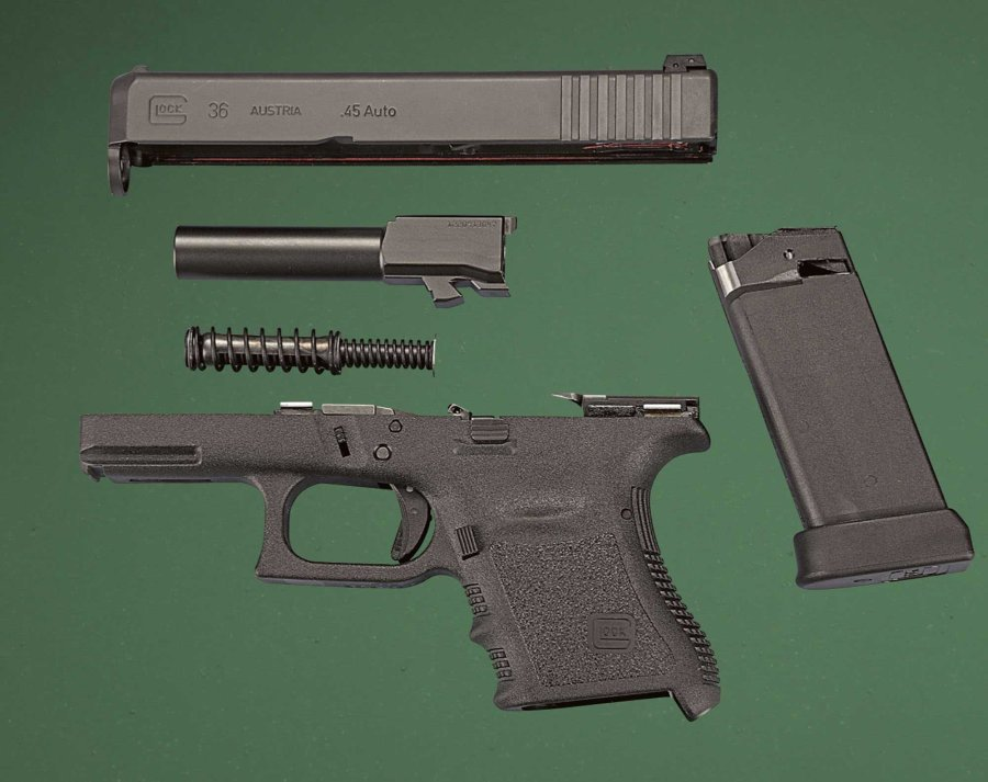 Disassembled Glock 36