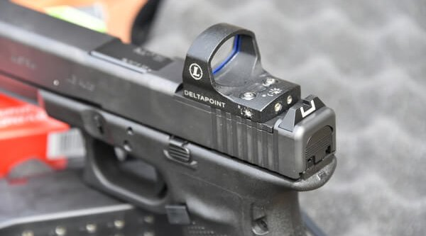 MOS series GLOCK pistol with optical sight by Leupold