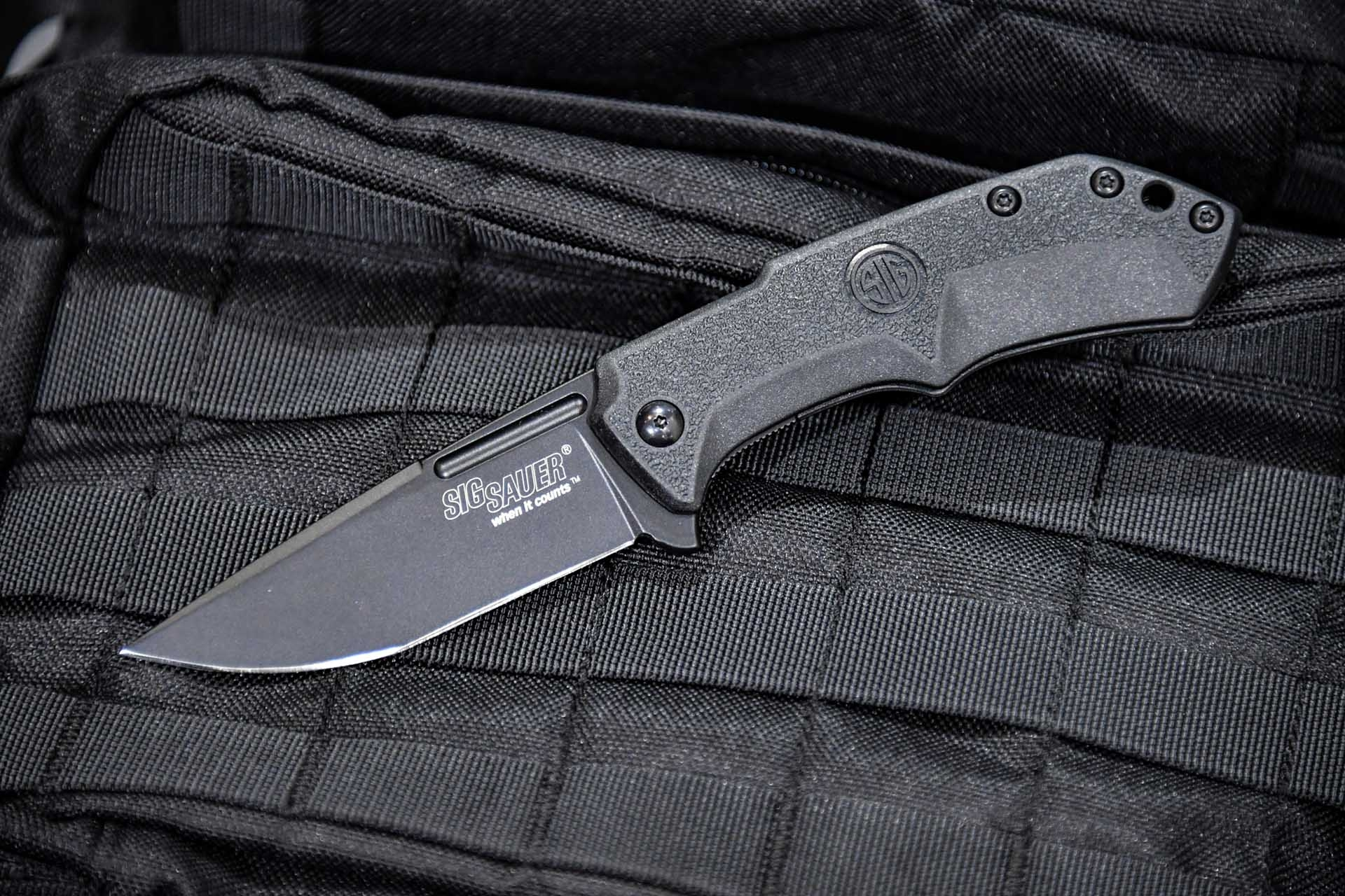 The folding knife SIG Sauer M1 with black handle