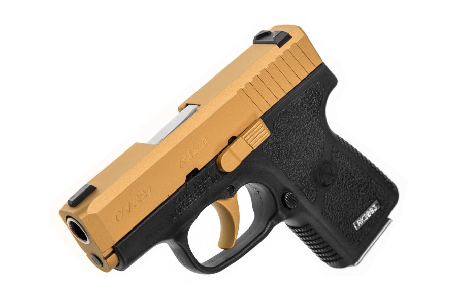 Kahr Arms distributes the CW380 pistol in exclusive gold Cerakote-finish through Davidson's