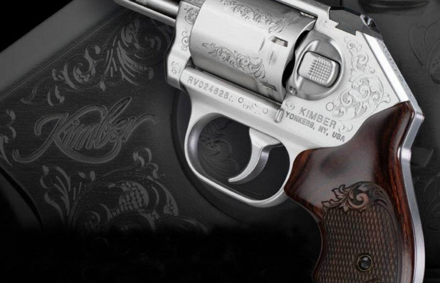 The Kimber K6s Classic Engraved revolver.