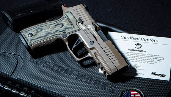 sig-sauer: New from SIG Custom Works: P320 AXG Scorpion 9mm pistol with metal grip module