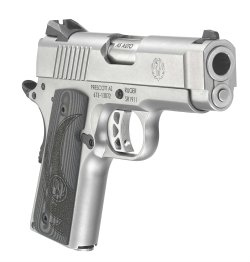 From Ruger, a SR1911 Officer-Style with stainless steel frame