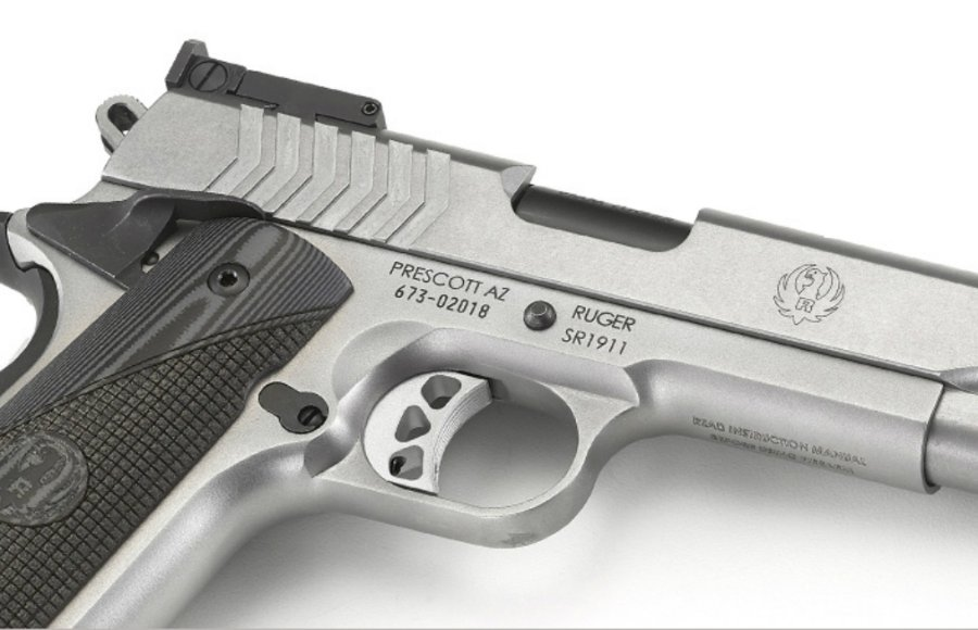 The Ruger SR1911 Target chambered in 9mm Luger.
