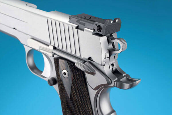 Match grade rear sight on the SIG Sauer 1911 Stainless Target